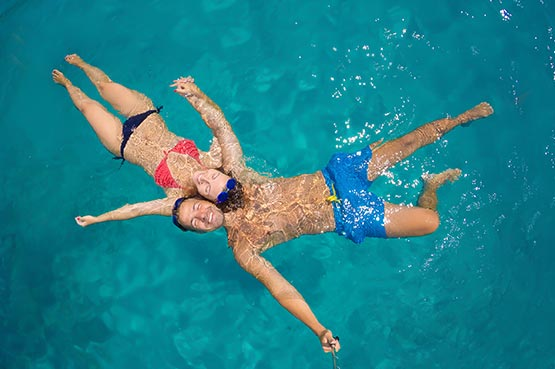 piscine autoportante à l'Étang-Salé